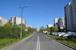 Ulica Braci Wagów na wysokości Belgradzkiej