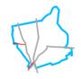 Schemat ścieżek rowerowych w Rembertowie