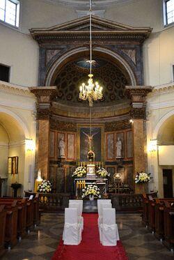 Ołtarz główny kościół św. Aleksandra.JPG