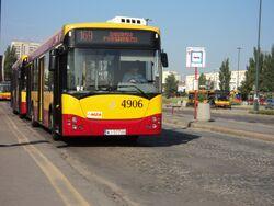 4906 na pętli Dworzec Wschodni Kijowska