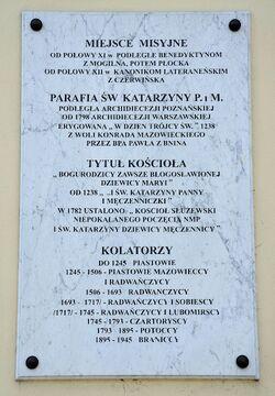 Tablica kościół św. Katarzyny.JPG