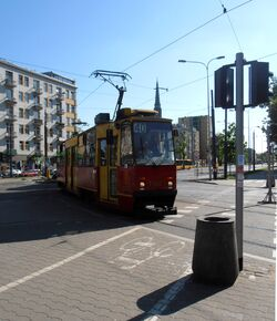 Aleja Solidarności (tramwaj 40).JPG