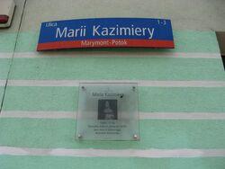 Marii Kazimiery-tablica