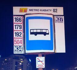 Metro Kabaty (logo ZTM)