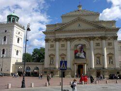Portret Jana Pawła II kościół św. Anny.JPG