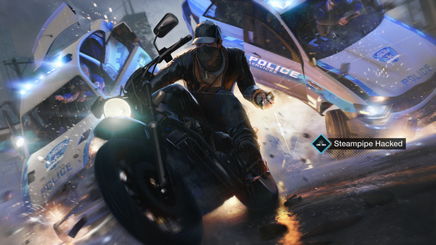 File:Aiden hacking a steampipe whilst riding a motorcycle, Watch Dogs.png