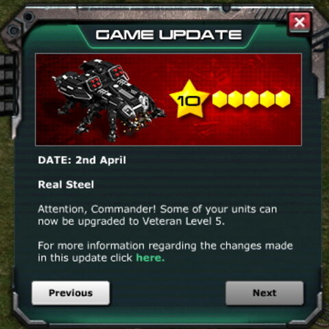 Game Update: Apr. 2nd 2014 - Veteran Level 5