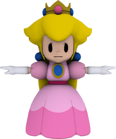 File:Paper princess peach wip 2 with texture by luigimariogmod-d4m7aze.png