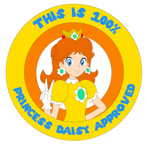 File:Princess daisy seal of approval by zefrenchm-d5wtw6f.png