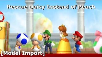 Rescue Daisy Instead of Peach in NSMBW Model Import ( Download) (11.8K Sub Special)