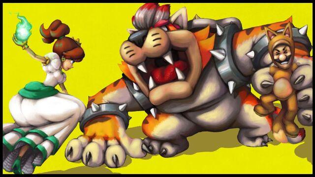 File:Fire daisy vs cat bowser by wyvernsmasher-d738pg3.jpg