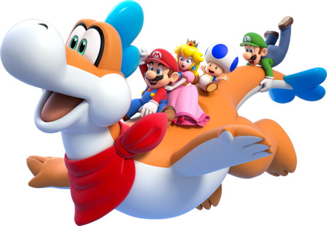 File:Plessie Artwork - Super Mario 3D World.png