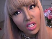 Tamang-phan-contoured-her-face-and-used-bold-eyeshadow-and-lip-linerlipstick-colors-to-create-the-nicki-minaj-look