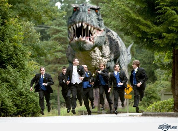 T-Rex-Wedding-Photo
