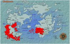 Karte des alten Spanischen Reich bei seiner größten Ausdehnung