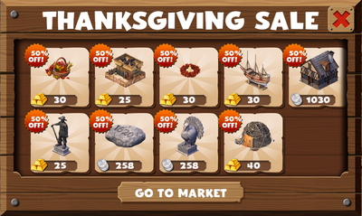 Thanksgiving Sale 2014-11-21