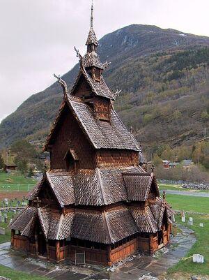 449px-Borgund stavkirke