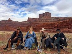 Westworld actors behind the scene