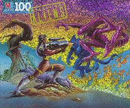 Hicks vs. Scorpion Alien Gorilla Alien jigsaw
