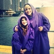 Raura after a boat ride in Australia
