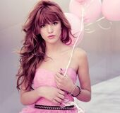 Girl qdz bella thorne cute dress fashion kfashion korean pink pretty