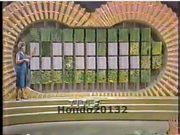 Wheel of Fortune 1982 Puzzleboard