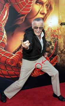 Stan Lee's left testicle