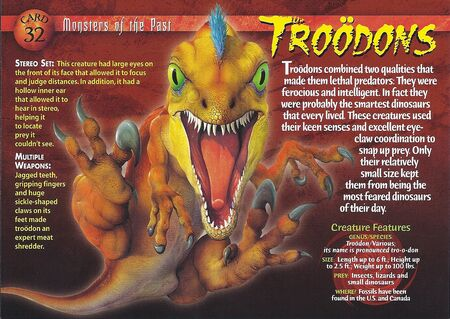 Troodon front