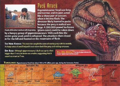 Giganotosaurus back