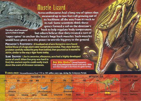 Acrocanthosaurus back