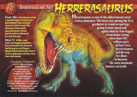 Herrerasaurus front