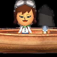 A traveler riding a boat.