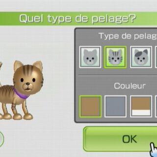 A player customizing his cat.