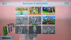 Wiifit aerobic menu