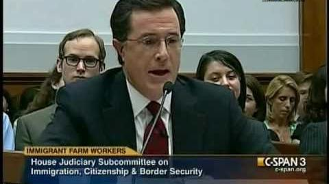 "Stephen Colbert to Congress ""migrant workers suffer and have no rights"""