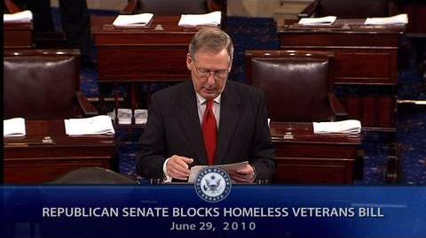 Republican Senators Blocks Homeless Veterans Bill