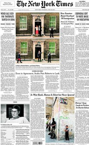 File:NYTimesFrontPage6-28-2007.jpg
