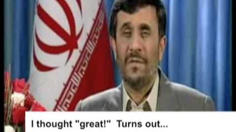 AHMADINEJAD BREAKS HIS SILENCE - Andy Cobb