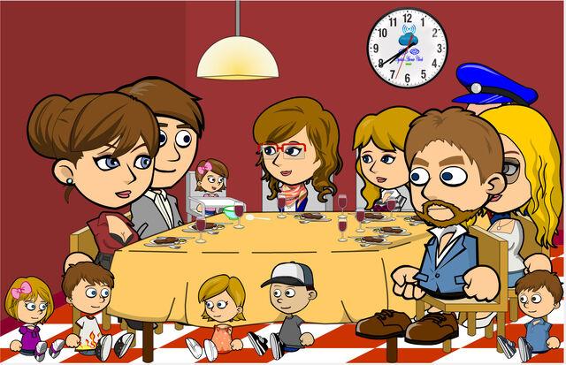 File:The Andrews Family and Julie's Family having dinner.jpg