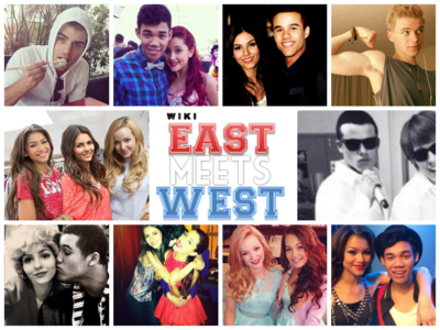 East Meets West cast collage
