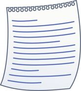 Paper with writing clip art 9419