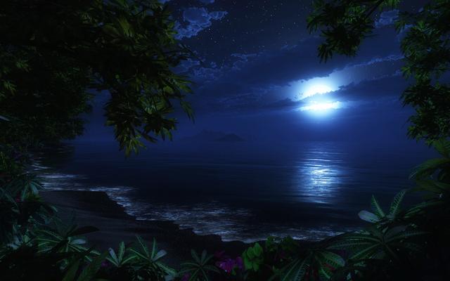 File:Sea-Beach-At-Night.png