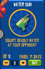 Water Gun in Shop