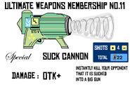 Suck cannon