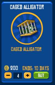 Caged Aligator