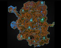 Deradune map