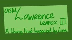 Asdf Lawrence by Luna4s