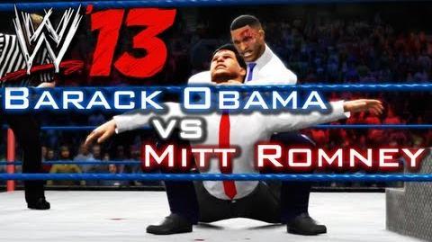 WWE 13 Barack Obama vs Mitt Romney