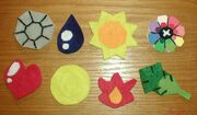 Red Pokemon Trainer Badges by lizstaley