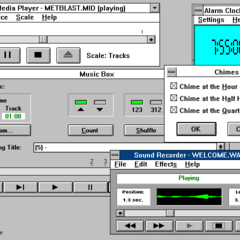 Windows 3.0 MME multimedia programs.